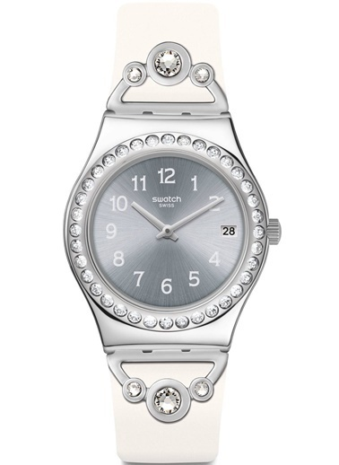 Swatch YLS463 Bayan Kol Saati Beyaz